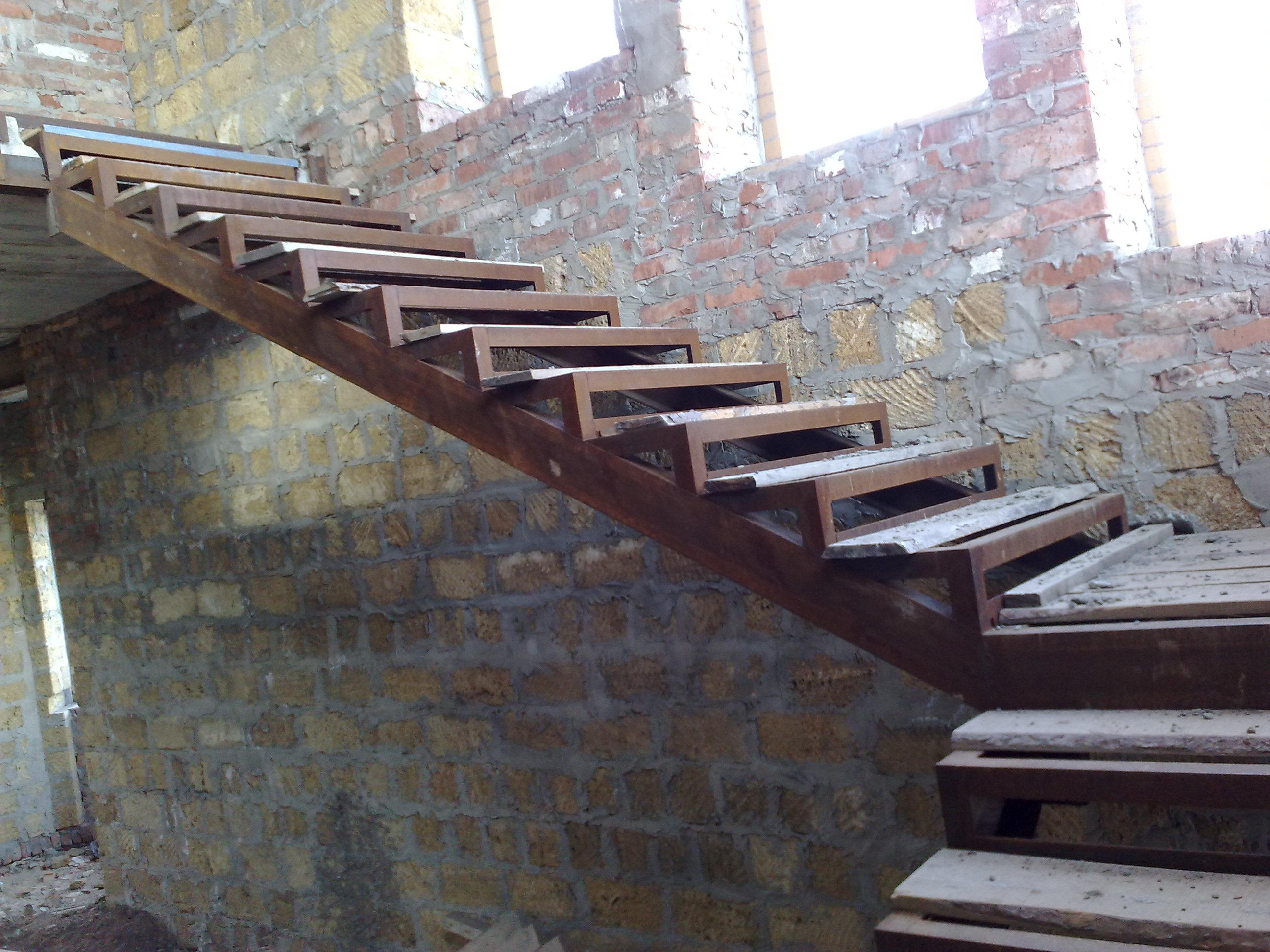 Железная лестница своими руками на одном к