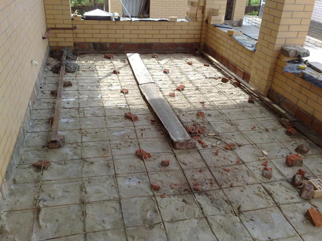 Сетка для армирования бетона.