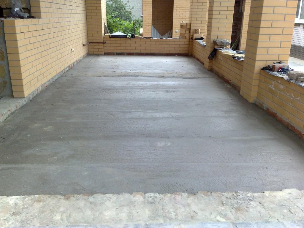 Как залить бетонный пол.