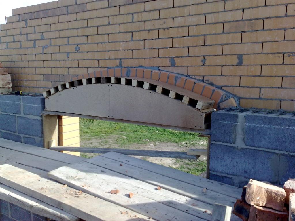 Нарощенный шаблон для забутовочной арки.