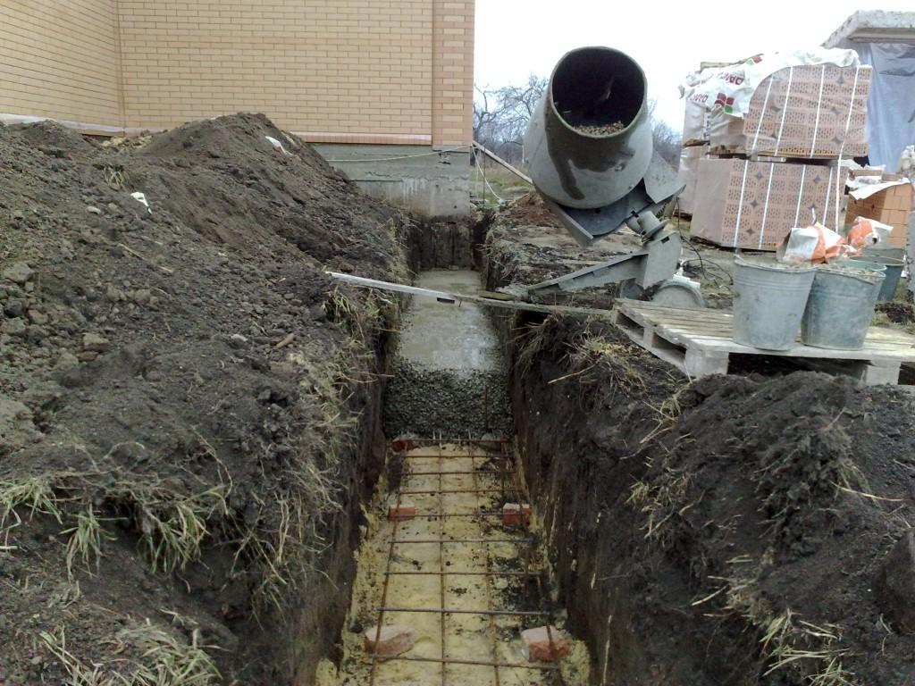 Армированный пояс, ростверк - ленточный фундамент.