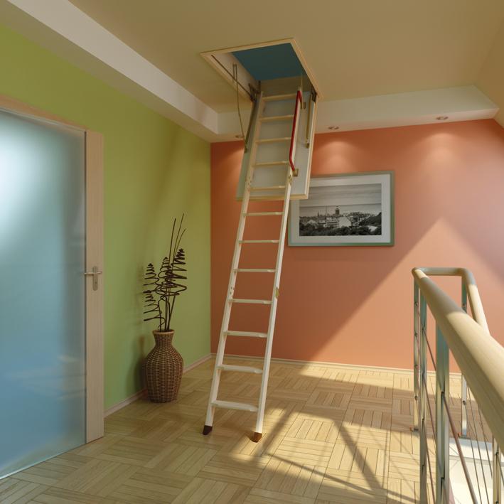 Чердачная лестница складная.