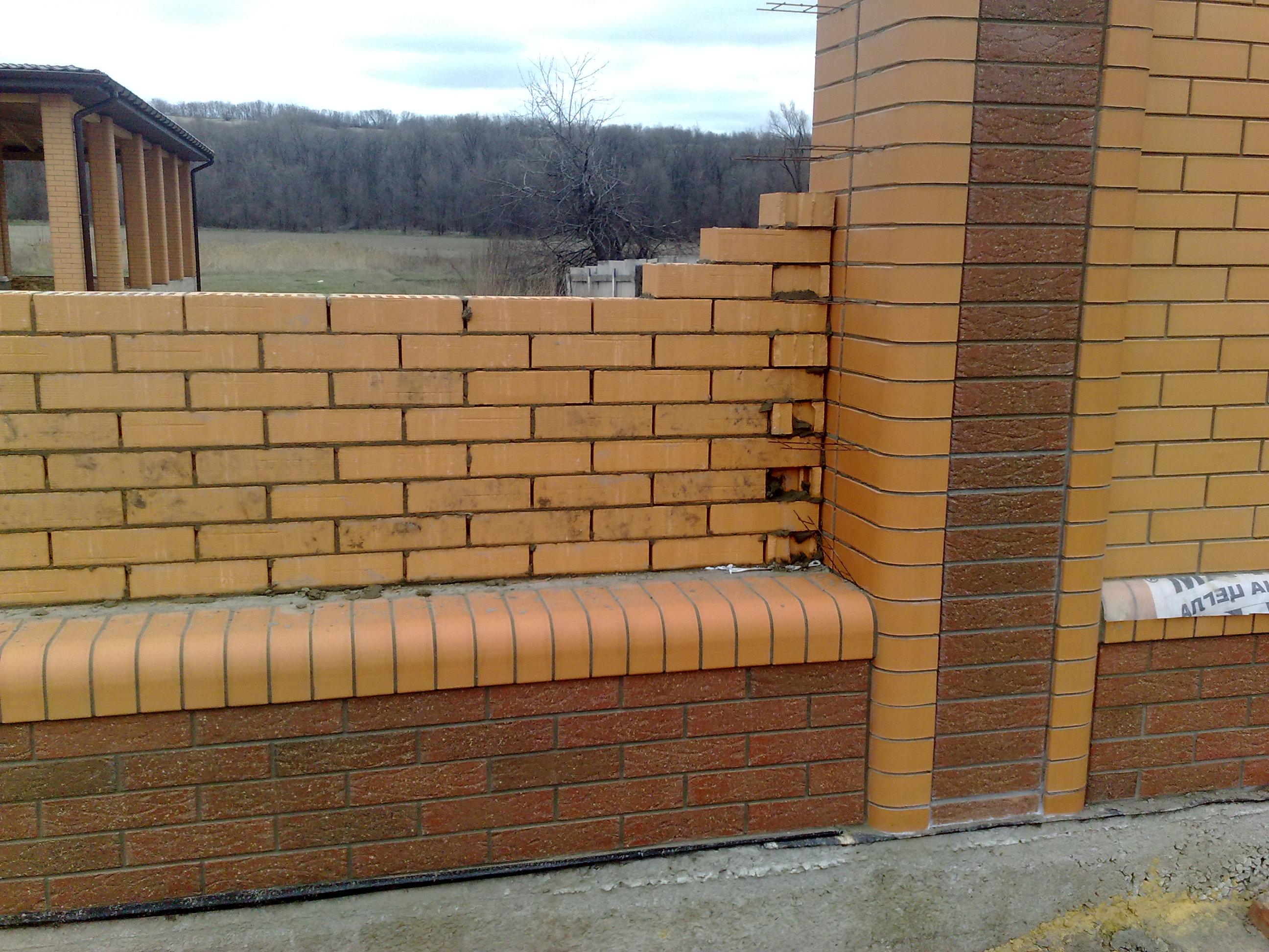 Забор из кирпича своими руками - пошаговая инструкция! 41
