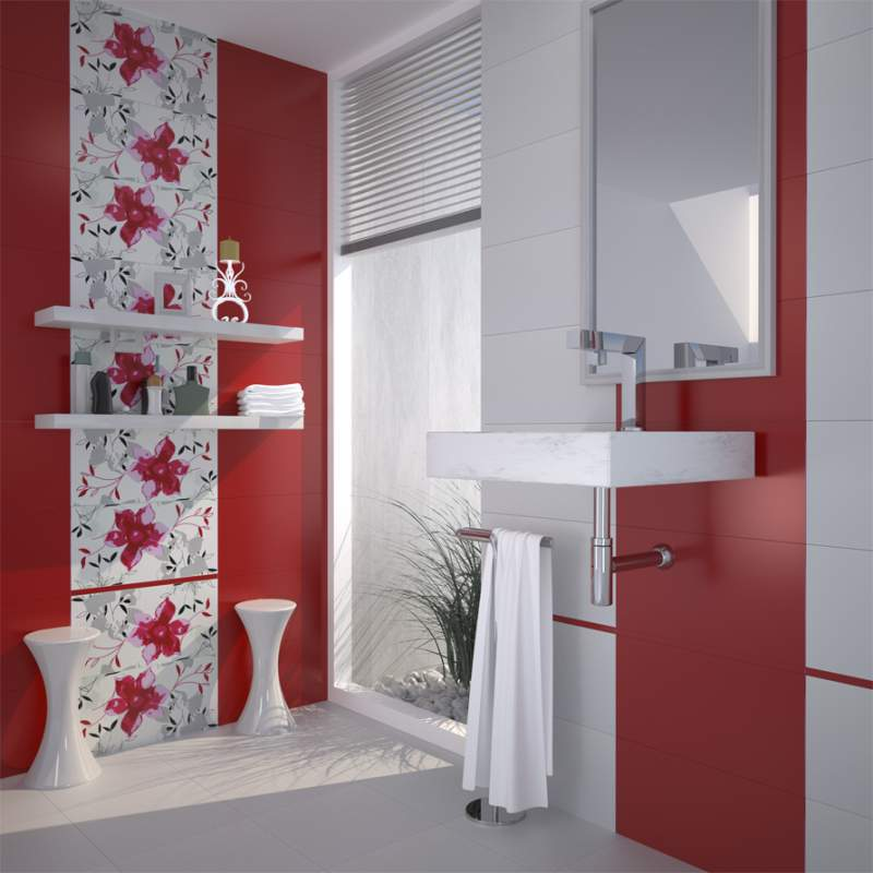 Настенная плитка в ванной комнате