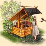 Колодец на даче – комфорт и красота участка
